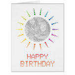 happy birthday (brightBurst) Big Greeting Card