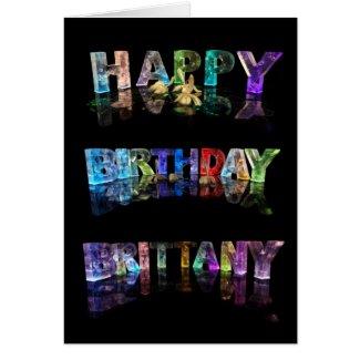 Happy Birthday Brittany Card