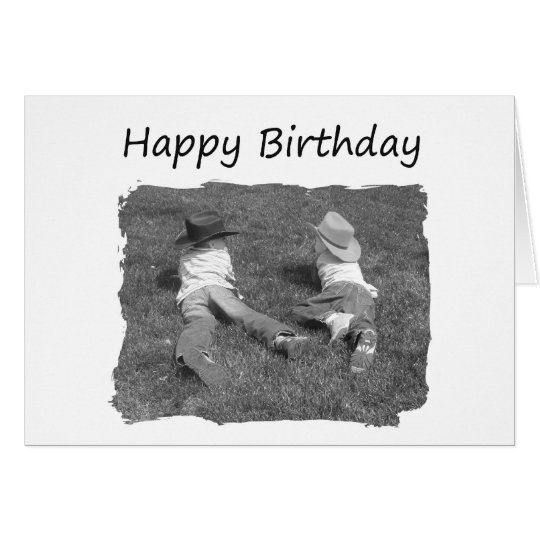 Happy Birthday Brother - Cowboys Card