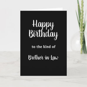 Happy Birthday Brother-in-Law Humour Card