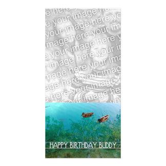 happy birthday buddy (two ducks) customized photo card