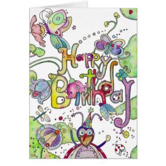 Happy Birthday - Bugs Card