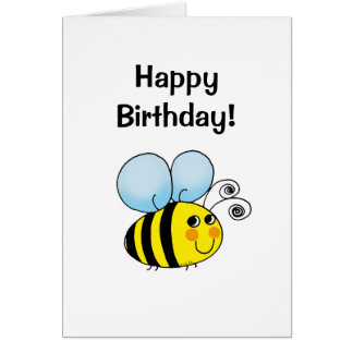 Happy birthday! (bumble bee) card