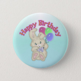 Happy Birthday Bunny Button