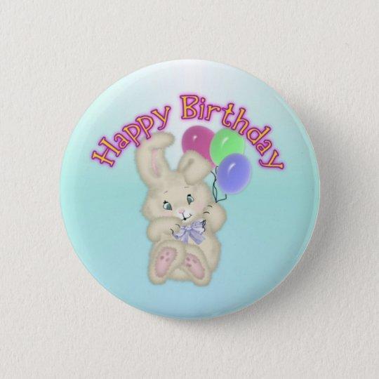Happy Birthday Bunny Button