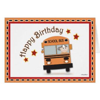 Happy Birthday Bus Driver Greeting Card
