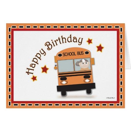 Happy Birthday Bus Driver Cards