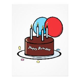 Happy Birthday Cake 21.5 Cm X 28 Cm Flyer