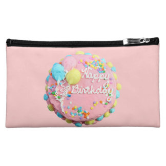 Happy Birthday Cake Bag Cosmetic Bags