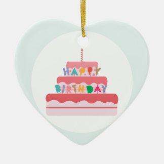 Happy Birthday Cake Christmas Ornament