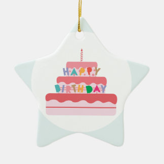 Happy Birthday Cake Christmas Ornament