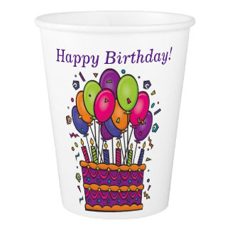 Happy Birthday Cake Cups #1