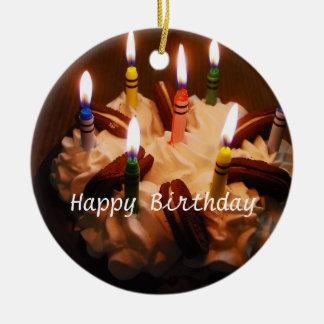 Happy Birthday Cake Christmas Tree Ornaments