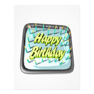 Happy Birthday Cake Full Color Flyer