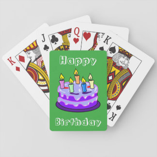 Happy Birthday Cake Fun Unique Cool Poker Deck