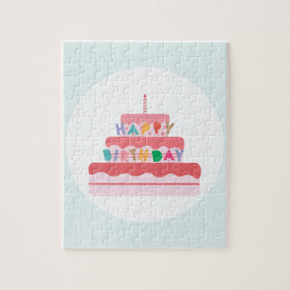 Happy Birthday Cake Jigsaw Puzzle