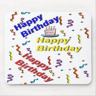 Happy Birthday Cake Mousepad