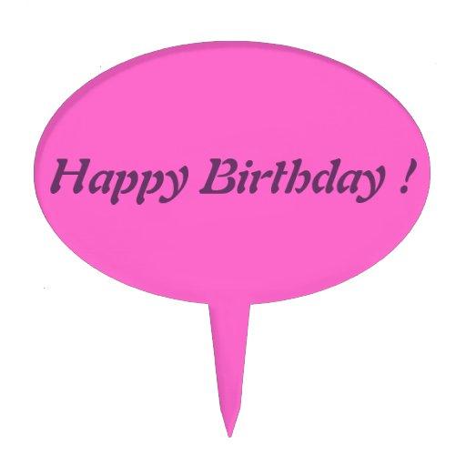 Happy Birthday - Cake Pick