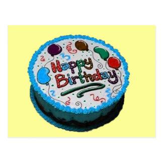 Happy Birthday Cake Postcard