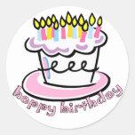 Happy Birthday cake Sticker