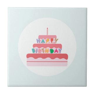 Happy Birthday Cake Tile