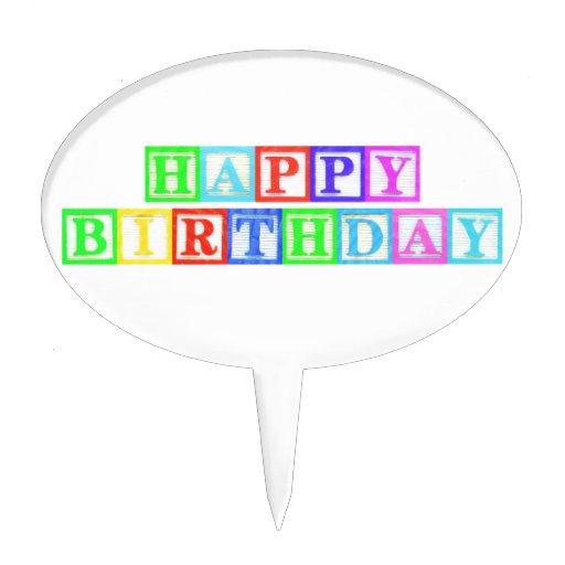 Happy Birthday! Cake Picks