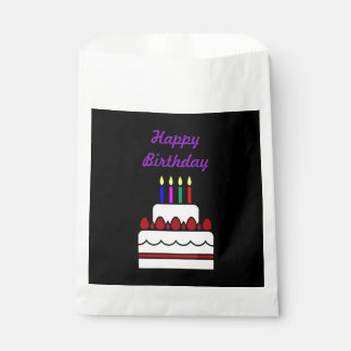 Happy Birthday Cake with Candles Favour Bags
