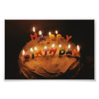 Happy Birthday Cake with candles Poster