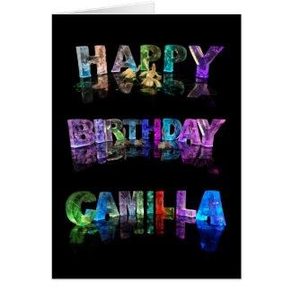 Happy Birthday Camilla Card