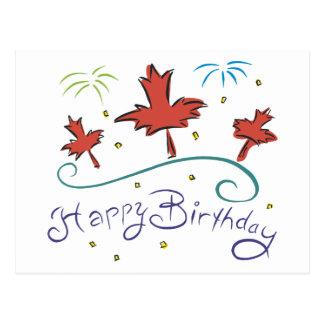 Happy  Birthday Canada Postcard