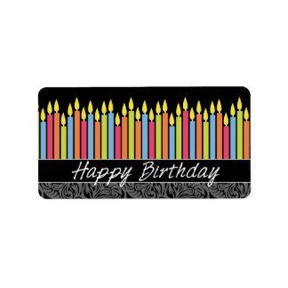 Happy Birthday Candles Label