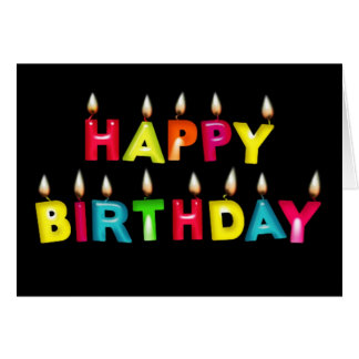 HAPPY BIRTHDAY - CANDLES LIT GREETING CARD