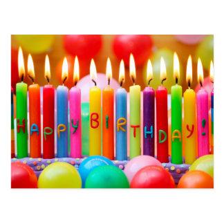 Happy Birthday Candles Postcard