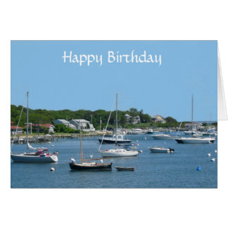 Happy Birthday Cape Cod MA Greeting Card