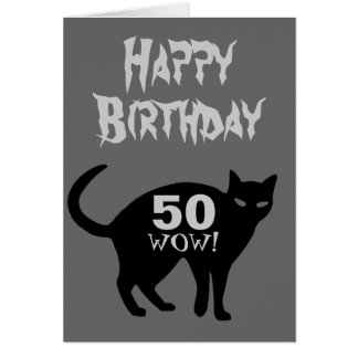 Happy Birthday Card 50th.