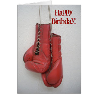 Happy Birthday Card Boxing Gloves