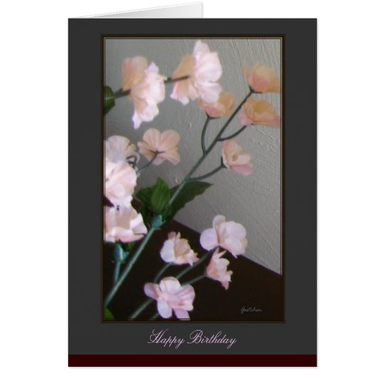 Happy Birthday Card - Cherry Blossoms