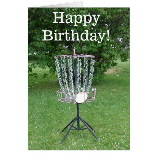 Happy Birthday Card for a Disc Golfer