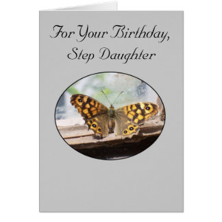 Happy Birthday Card For A Step Daughter Butterfly