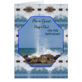 Happy Birthday Card For A Step Father Sea