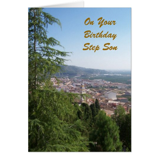 Happy Birthday Card For A Step Son Landscape
