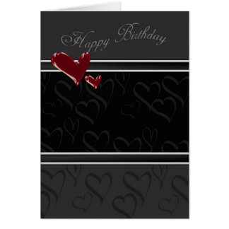 Happy Birthday card for male with hearts