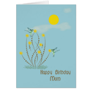 Happy Birthday Card for Mum with Hummingbirds