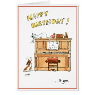 Happy birthday card for music lovers