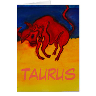 Happy Birthday Card for Taurus