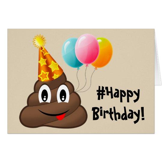 #Happy Birthday Card: Party Poop Emoji Card
