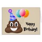 Happy Birthday Card: Party Poop Emoji Card