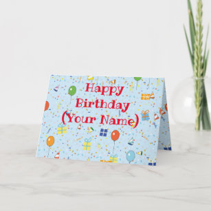 Happy Birthday Card Personalize