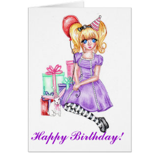 Happy Birthday Card (Purple)