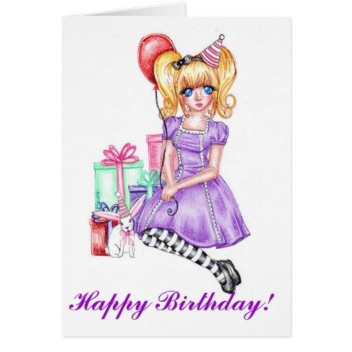 Happy Birthday Card (Purple)